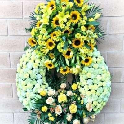 Corona para funerarios, modelo 4