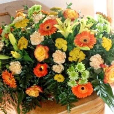 Corona para funerarios, modelo 8