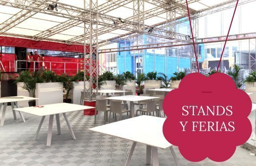 decoracion de stands con plantas