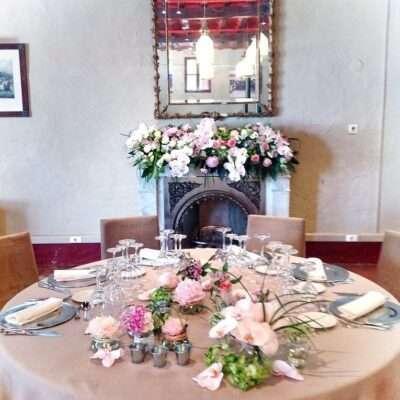 Decoración de mesas para banquetes