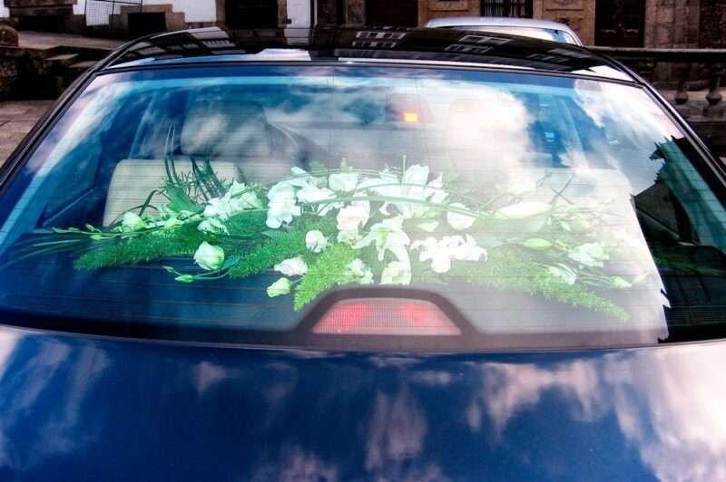 Flores para coche novios 1