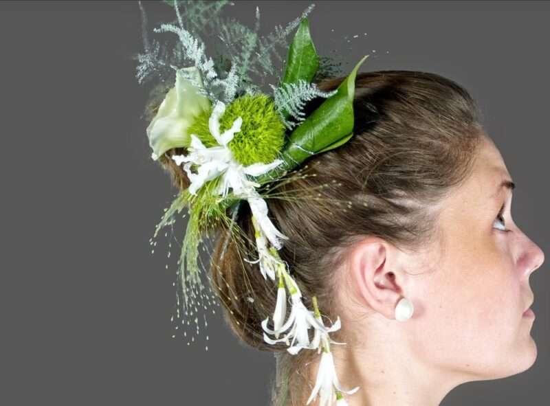 Flores para el pelo de la novia 1