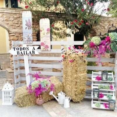 Photocall para bodas rústicas