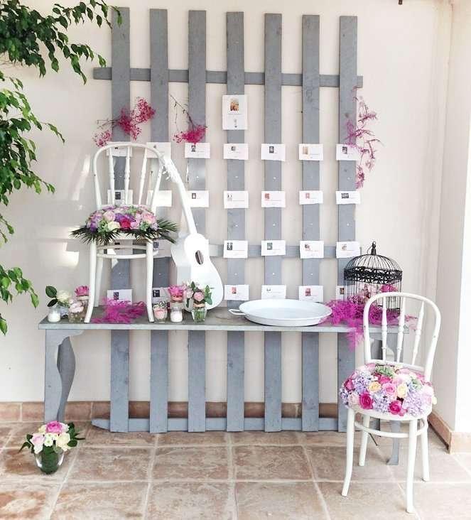 Sitting plan para bodas vintage