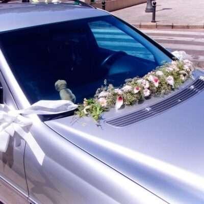 Flores para coche novios 2