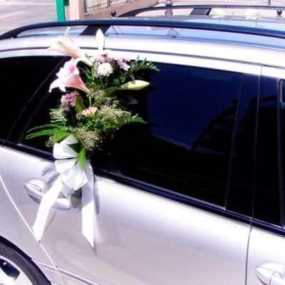 Flores para coche novios 3