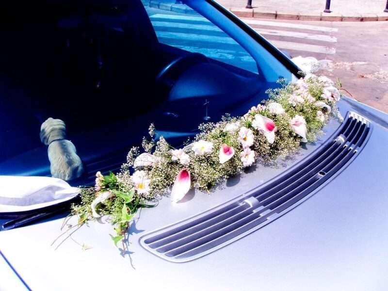 Flores para coche novios 5