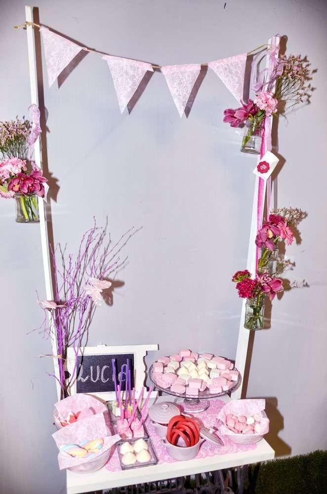 Candy bar estilo rosa