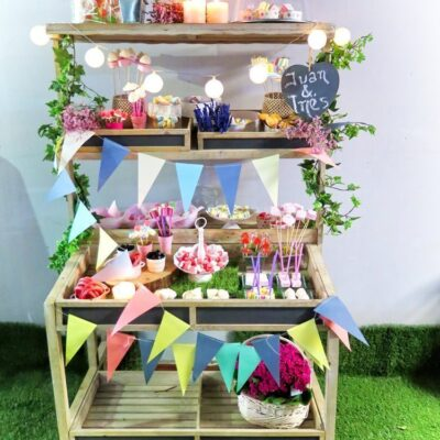 Candy bar estilo campestre