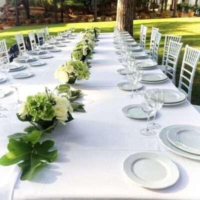 Flores para mesas alargadas