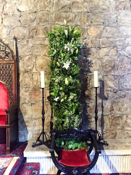 Columna verde para altar