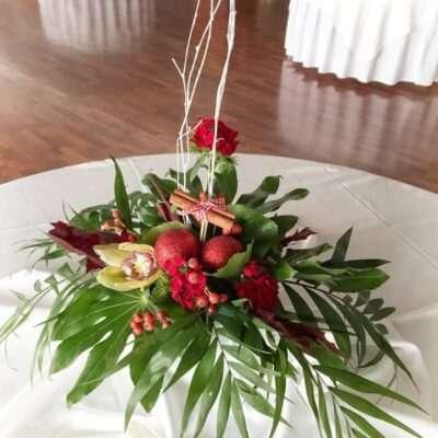 Arreglo navideño para mesa