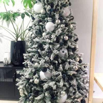 Árbol de Navidad blanco nieve