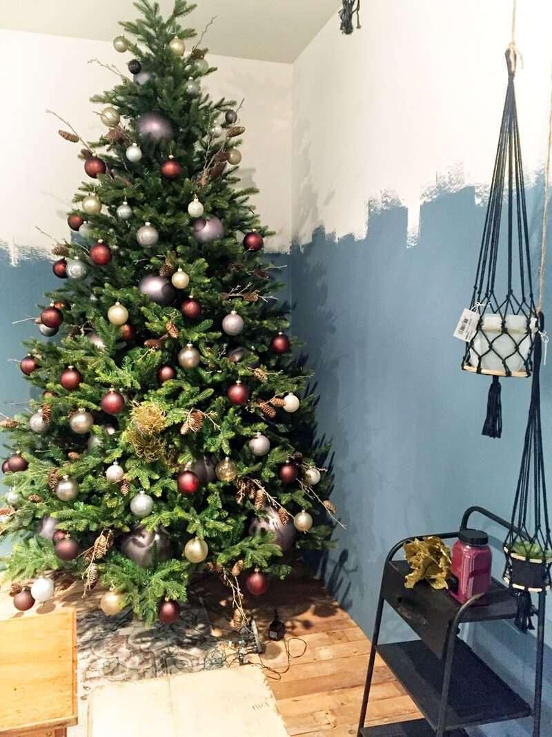 Árbol de Navidad tonos cálidos
