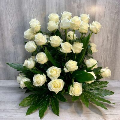 Ramo de rosas blancas flores fela