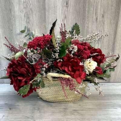 Cesta de flores rojas flores fela