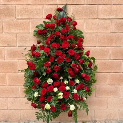 Corona de flores con rosas flores fela
