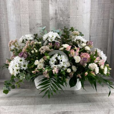 Cesta de flor natural flores fela